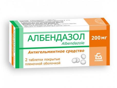 Албендазол, таблетки