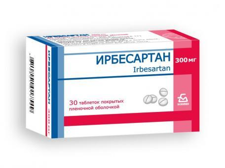 Ирбесартан, таблетки