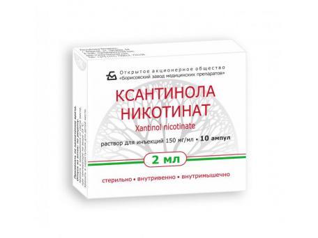 Ксантинола никотинат, раствор