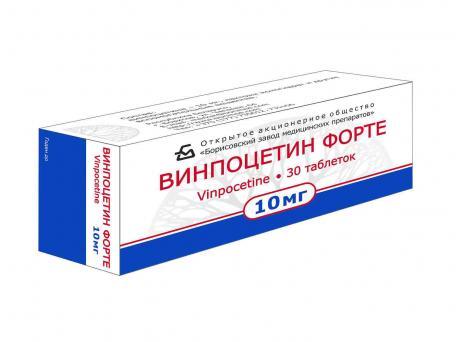 Винпоцетин форте, таблетки